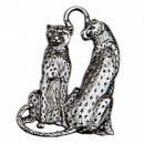 grossiste Accessoires & Pièce détachée: Pendentif léopard, 63x46mm