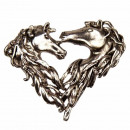 Pendant heart / horse, 46x55mm