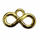 50 zawieszki / charms nieskończoność, złoto