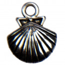 wholesale Beads & Charms: 50 pendants / charms shell, silver