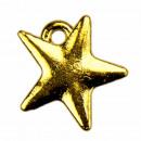 100 hangers / bedels ster, goud