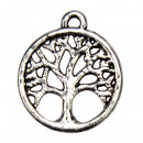 wholesale Beads & Charms: 100 Pendant / Charms Tree of Life, Silver