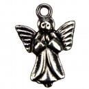 wholesale Beads & Charms: 100 pendants / charms angel, silver