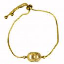 groothandel Koffers & trolleys: Modieuze armband, koper, cirkels