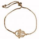 Modieuze armband, koper, Fatima's hand