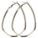 Hoops, Drops 70mm, 2mm, Silver,