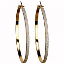 wholesale Earrings:Hoops, 50mm, Gold Sand