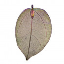 Pendant leaf, nature / copper, rainbow