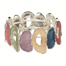 wholesale Beads & Charms: Fashionable stretch bracelet, multicolored