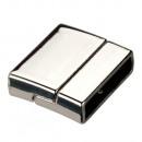 grossiste Accessoires & Pièce détachée: Fermoir magnétique, pour 20x3mm, argent