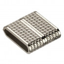 Magnetic clasp, for 20x4mm, silver