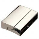 grossiste Accessoires & Pièce détachée: Fermoir magnétique, pour 40x8mm, argent