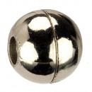 grossiste Accessoires & Pièce détachée: Boule de fermeture magnétique, pour 2mm, argent