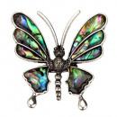 Hanger / broche vlinder, abalone