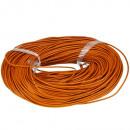grossiste Accessoires & Pièce détachée: Bracelet en cuir de 91 m, 2 mm, orange