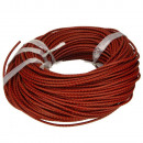grossiste Accessoires & Pièce détachée: Bracelet cuir 5m, 3mm, rouge