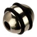 10 bollen roestvrij staal met rubber, 8,1x8mm