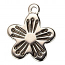 wholesale Beads & Charms: 10 pendants / charms flower stainless steel, ...