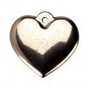 wholesale Beads & Charms: 10 pendants / charms heart, stainless steel, ...