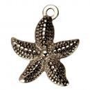 Großhandel Beads & Charms: 10 Anhänger/Charms Seestern, Edelstahl