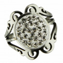 wholesale Jewelry & Watches: Stainless steel ring with stones, silver