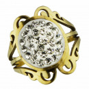 wholesale Jewelry & Watches: Stainless steel ring with stones, gold