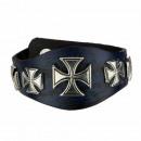 Leren armband, Vintage Blauw