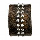Leren armband Vintage Bruin