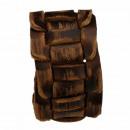 Leren armband, Vintage Bruin