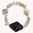 Armband Agaat / Kristal