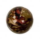 250g spacer kralen, 22mm bal, rood-bruin-goud
