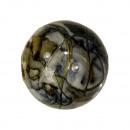 250g spacer kralen, bal, 22mm, blauw-goud-wit