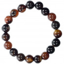 Magic Lace Agate nature bead bracelet, 10mm