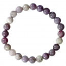 Natural pearl bracelet colored boulder, 8mm