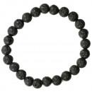 Natural lava beads bracelet, 8mm