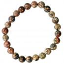 Natural pearl bracelet Leopardenfelljaspis, 8mm