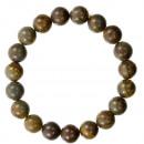 groothandel Sieraden & horloges: Natuurlijke bamboe jasper kralen armband, 10mm