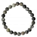 Natural Picasso Jasper bead bracelet, 8mm