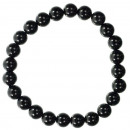 Natural black agate beads bracelet, 8mm