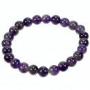 Natural amethyst beads bracelet, 8mm