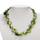 Großhandel Schmuck & Uhren:Halskette Perlmutt, Grün