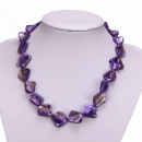 grossiste Chaines:Collier Nacre, Violet