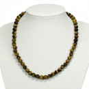 grossiste Bijoux & Montres: Collier de perles  naturelles oeil de tigre, 8mm