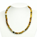 Natural Crazy Agate Pearl Necklace, 8mm