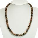 Natural pearl necklace Leopardenfelljaspis, 8mm