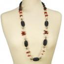 ingrosso Gioielli & Orologi: Lunga collana di  corallo / lavica / perla