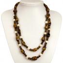ingrosso Gioielli & Orologi: Due strand collana  occhio di tigre / perla