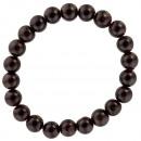 Natural pearl bracelet garnet, 8mm