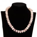 Special Price:  necklace rose quartz, AB, 10mm