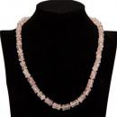 grossiste Chaines: Prix spécial: Collier quartz rose, AB, 11x8mm